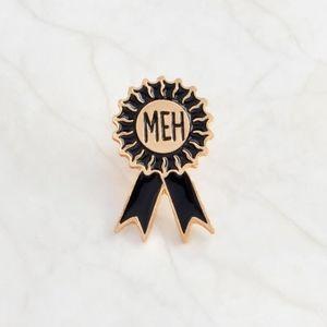 Accessories - Gold Metal Meh Ribbon Award Enamel Pin Accessory